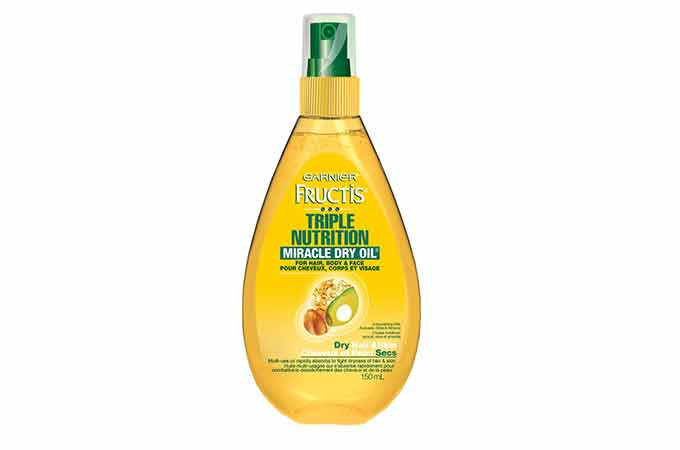 multitasking beauty products Garner triple nutrition miracle dry oil
